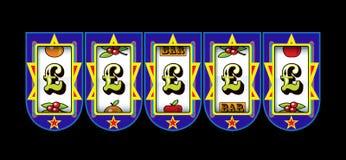 Slot machine do símbolo da libra Imagens de Stock Royalty Free