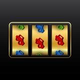 Slot machine dos carros Imagens de Stock Royalty Free
