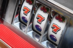 Slot machine e jackpot Fotos de Stock