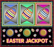Slot machine with easter jackpot Stock Photo