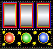 Slot machine with empty fields Stock Images