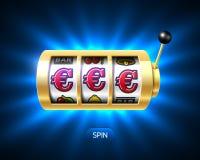 Slot machine with euro jackpot Stock Photo