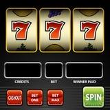 Slot machine fortunate sette Fotografia Stock Libera da Diritti
