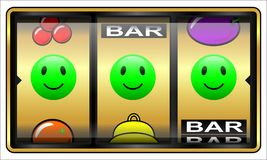 Slot machine, gambling, lucky Stock Images