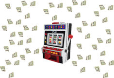 Slot machine game machine. With currency heap payout Stock Photography