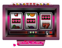 Slot Machine Hearts Royalty Free Stock Photography