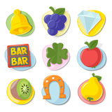 Slot Machine Icons - Set 2 | Rainbow Collection Royalty Free Stock Photography