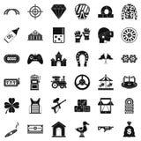 Slot machine icons set, simple style. Slot machine icons set. Simple style of 36 slot machine vector icons for web isolated on white background stock illustration