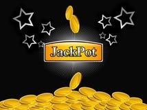 Slot-machine jackpot royalty free illustration