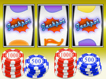 Slot machine jackpot Stock Photo