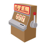 Slot machine jackpot cartoon icon. On a white background stock illustration