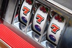 Slot machine and jackpot stock photos