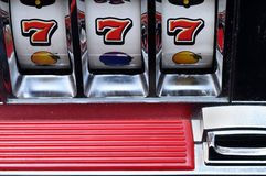 Slot machine and jackpot stock images