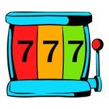 Slot machine jackpot icon, icon cartoon. Slot machine jackpot icon in icon in cartoon style isolated vector illustration vector illustration