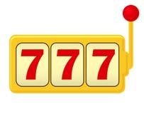 Slot machine. Jackpot - three 7. Classic Gambling. On white stock illustration
