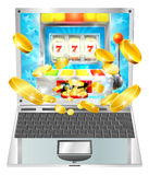Slot Machine Laptop Computer Concept Royalty Free Stock Image