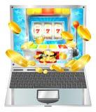 Slot Machine Laptop Computer Concept Royalty Free Stock Image