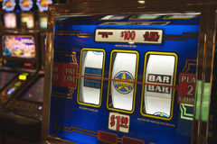 Slot machine in Las Vegas Royalty Free Stock Photos