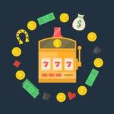 Slot machine logo or icon Stock Image