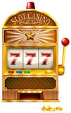 Slot machine with lucky seven Stock Image