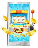 Slot Machine Mobile Phone Concept Stock Image
