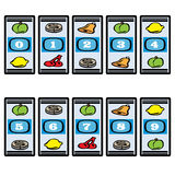 Slot Machine Numbers Stock Images