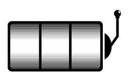 Slot machine. One-armed bandit. Simple illustration of slot machine vector blank template for web royalty free illustration