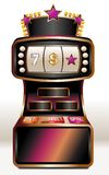 Slot machine. With pink stars, golden finishing and buttons stock illustration