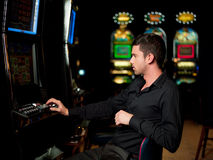 Slot machine player Stock Photo