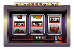 Slot Machine Pleite Royalty Free Stock Image
