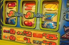 Slot machine reels. Close up of slot machine reels royalty free stock photo