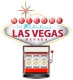 Slot machine rosse Fotografie Stock