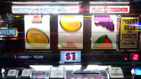 Slot Machine - 7's Winner stock video footage