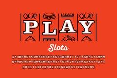 Slot machine style font royalty free illustration