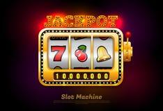 Slot machine with symbol royalty free illustration