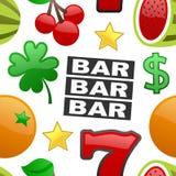Slot Machine Symbols Seamless Pattern Royalty Free Stock Photo