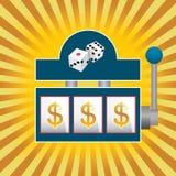 Slot Machine. Vector illustration of a slot machine Royalty Free Stock Photos