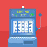 Slot Machine Vector illustration Royalty Free Stock Photo