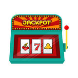 Slot Machine Web Banner  on Green Royalty Free Stock Photography