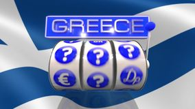 Slot machine wheels greek currency stock video footage