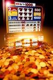 Slot machine win Royalty Free Stock Photography