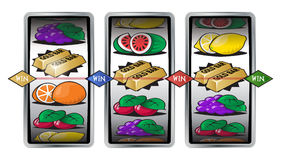 Slot Machine Winning Reels Royalty Free Stock Image