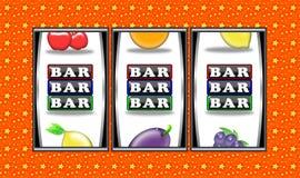 Slot machine winnings royalty free stock photography
