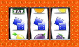 Slot machine winnings royalty free stock photography