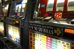 Slot Machines 2. Slot machines in Las Vegas Airport stock photo
