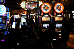 Slot machines in the casino Excalibur Royalty Free Stock Photos