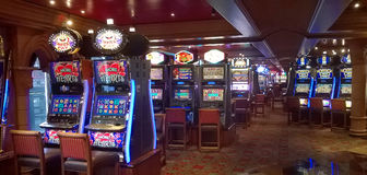 Slot machines in casino  Stock Photography