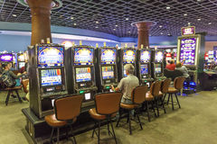 Slot Machines at the casino Stock Images