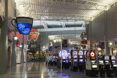 Slot Machines at the D Gates of McCarran Airport in Las Vegas, N Stock Photography