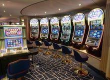 Slot machines gambling casino Stock Photo